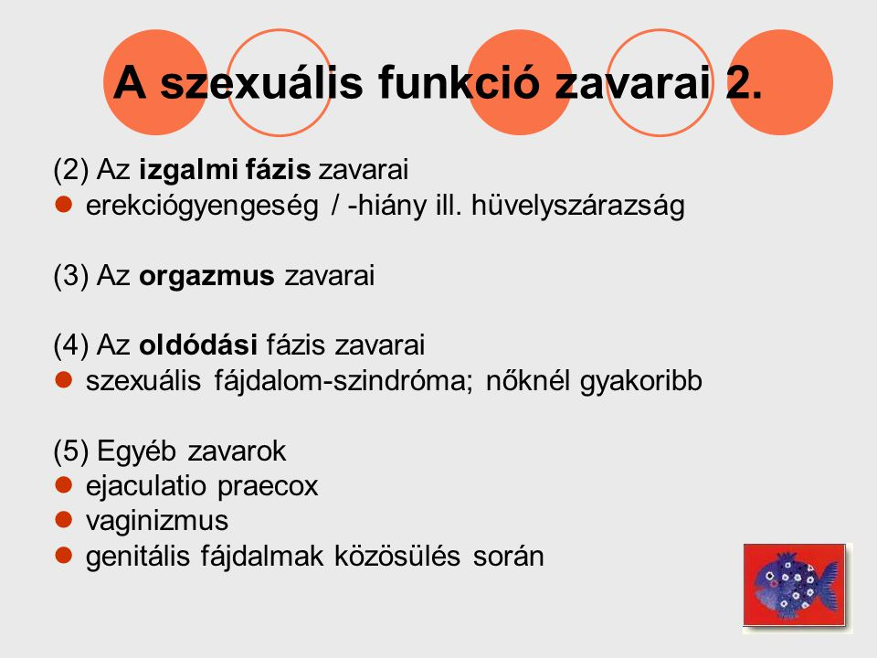A szexuális funkció zavarai 2.
