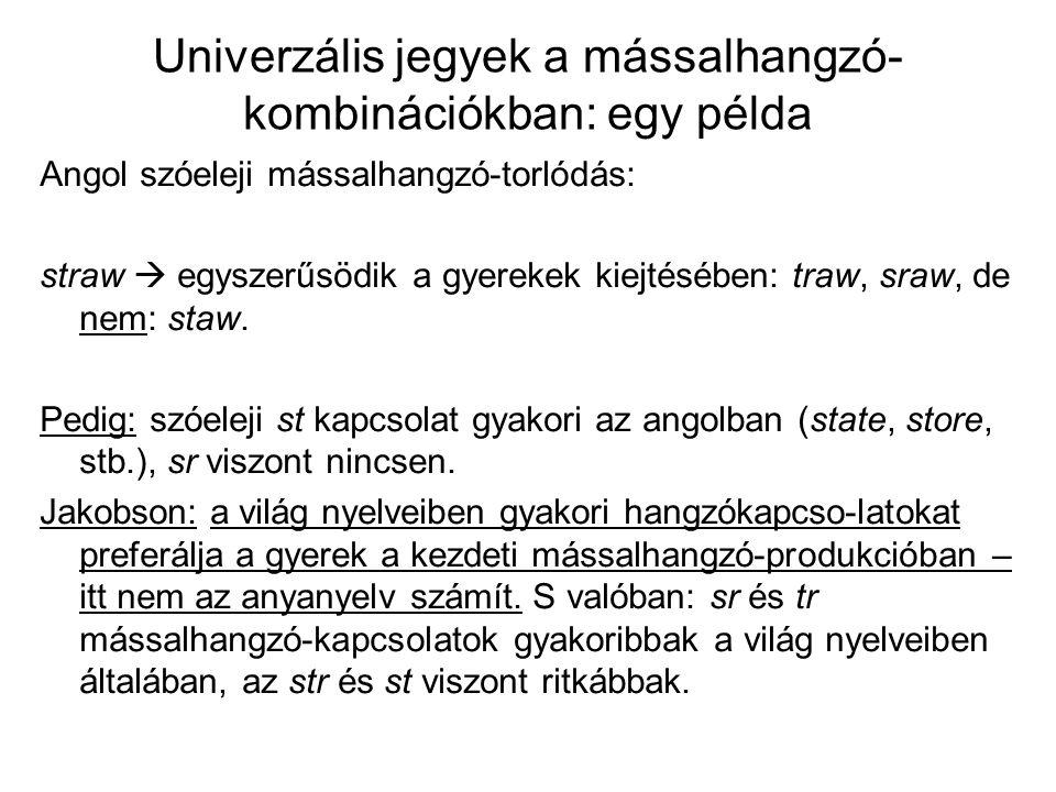 Univerzális jegyek a mássalhangzó-kombinációkban: egy példa