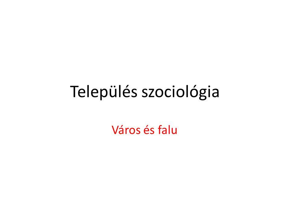 Település szociológia