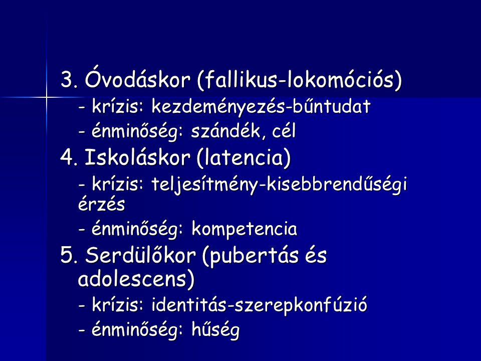 3. Óvodáskor (fallikus-lokomóciós)