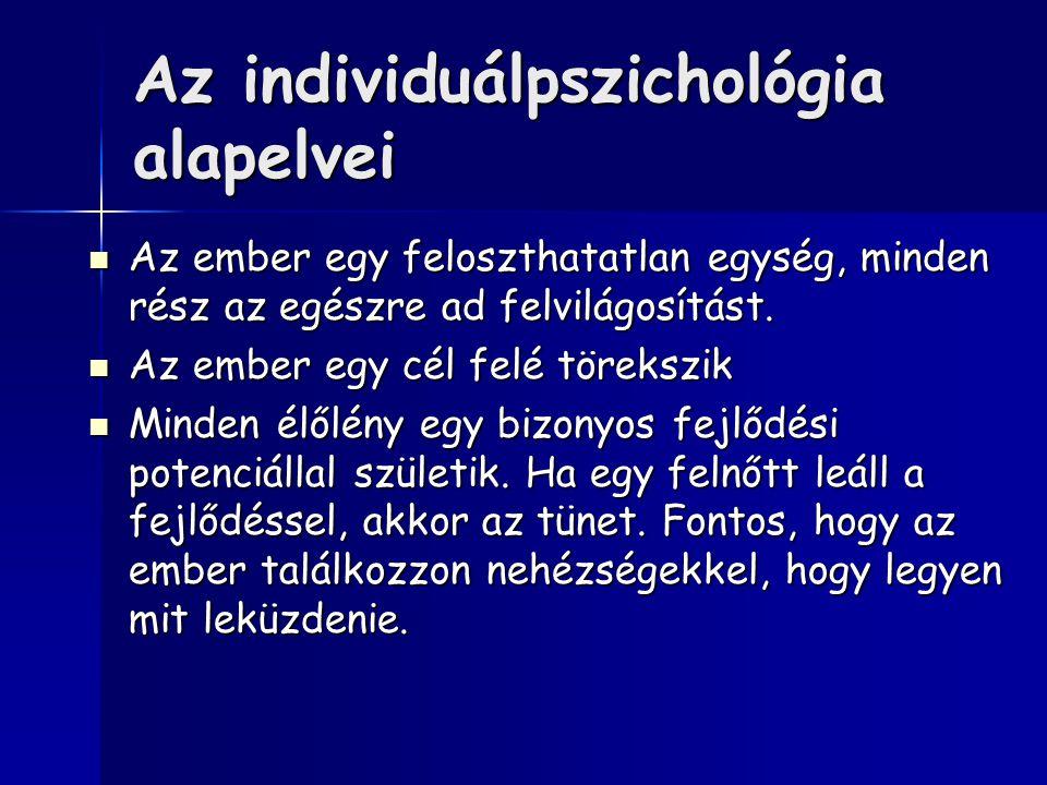 Az individuálpszichológia alapelvei