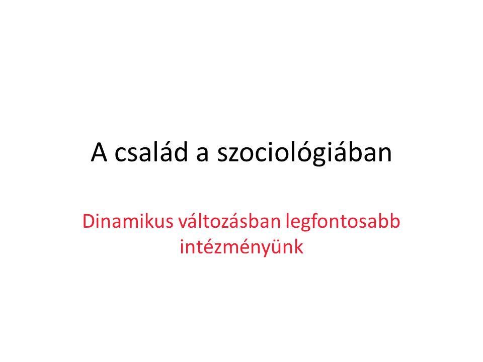 A család a szociológiában
