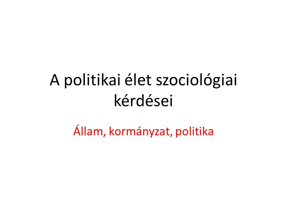 A politikai élet szociológiai kérdései