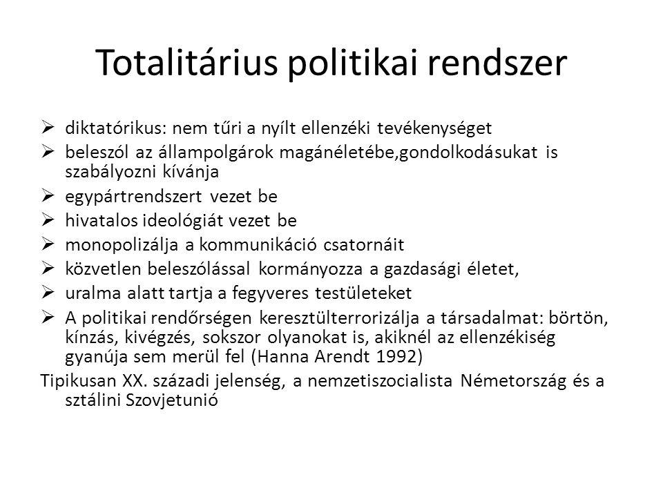 Totalitárius politikai rendszer
