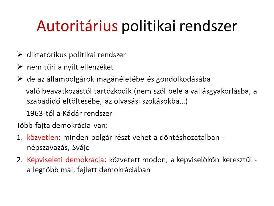 Autoritárius politikai rendszer