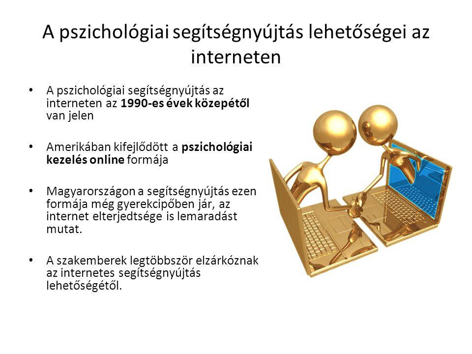 A pszichológiai segítségnyújtás lehetőségei az interneten