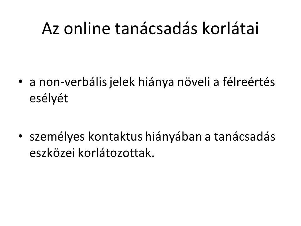 Az online tanácsadás korlátai