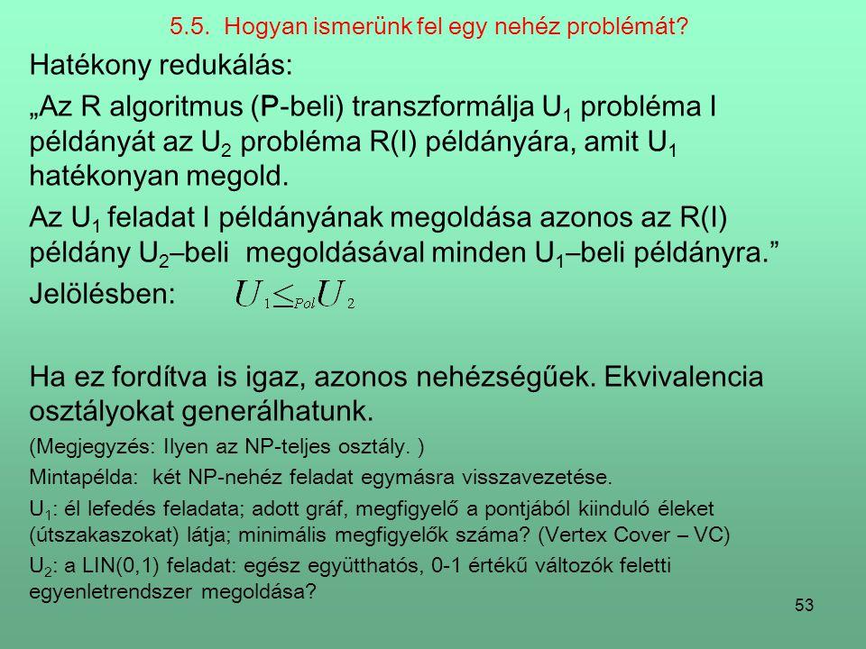 5.5. Hogyan ismerünk fel egy nehéz problémát
