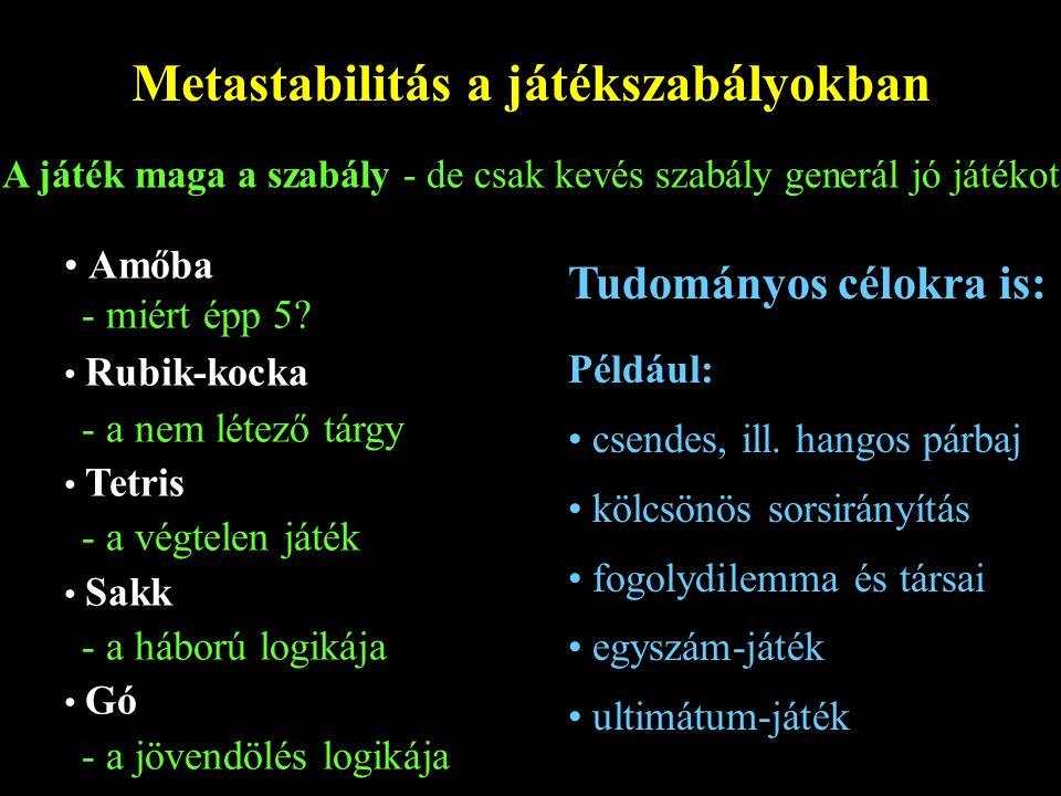 Metastabilitás a játékszabályokban
