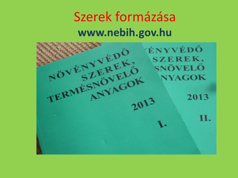 Szerek formázása www.nebih.gov.hu