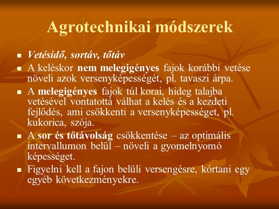 Agrotechnikai módszerek