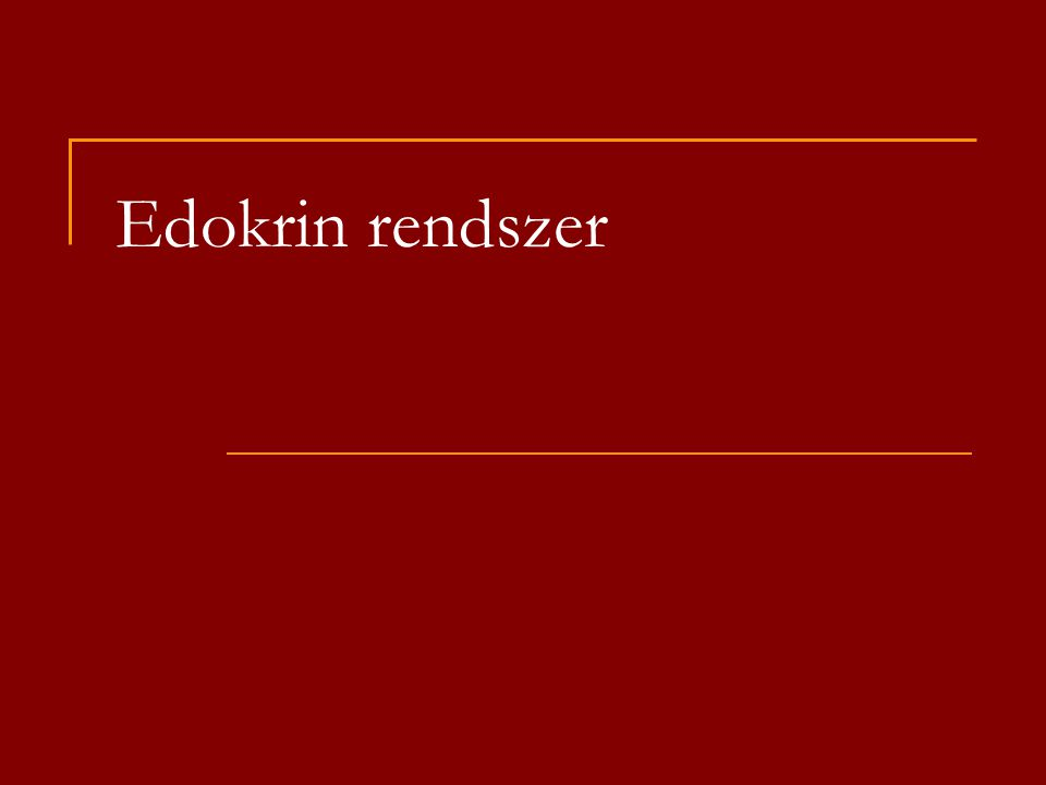 Edokrin rendszer