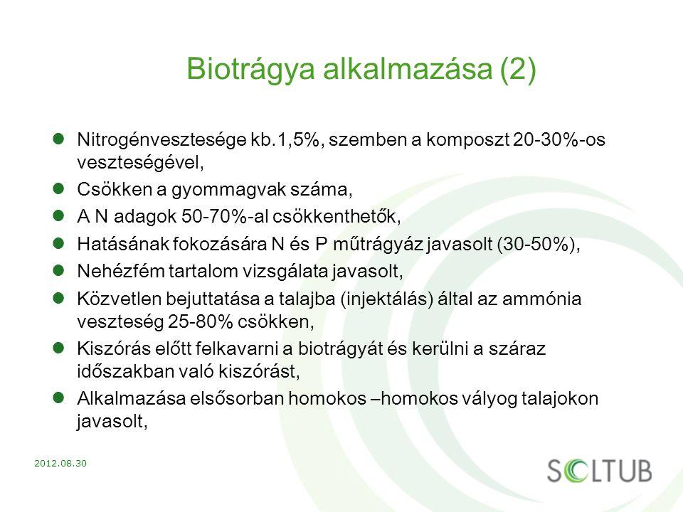 Biotrágya alkalmazása (2)