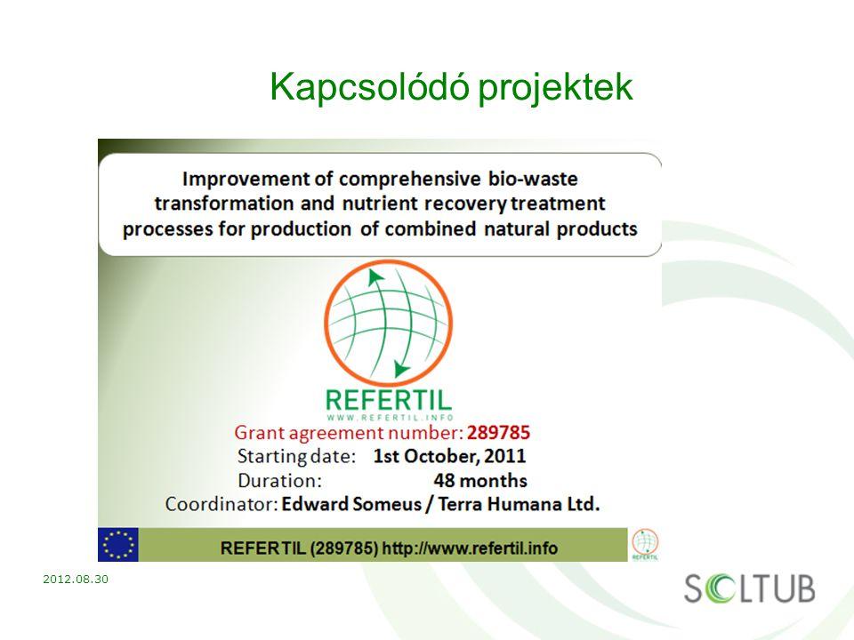 Kapcsolódó projektek 2012.08.30