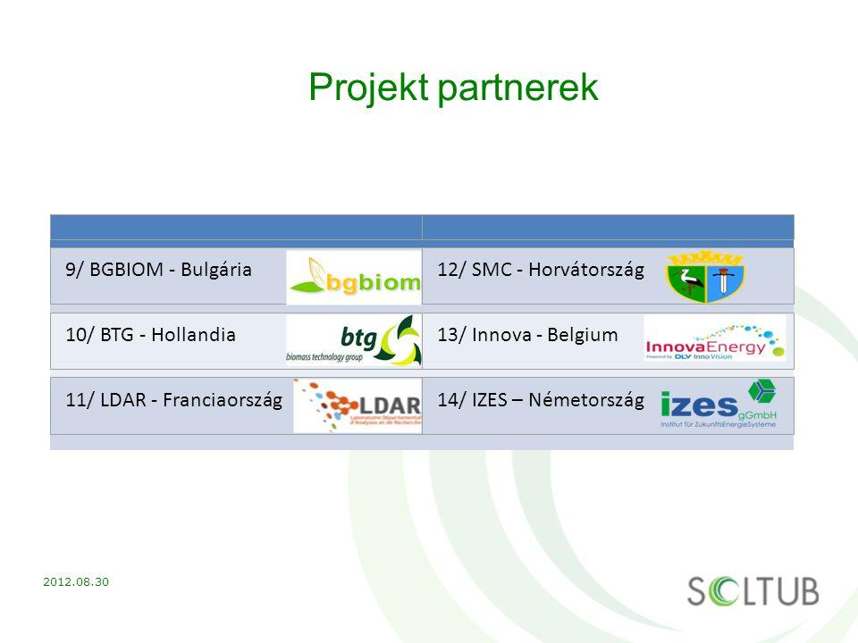 Projekt partnerek 9/ BGBIOM - Bulgária 12/ SMC - Horvátország