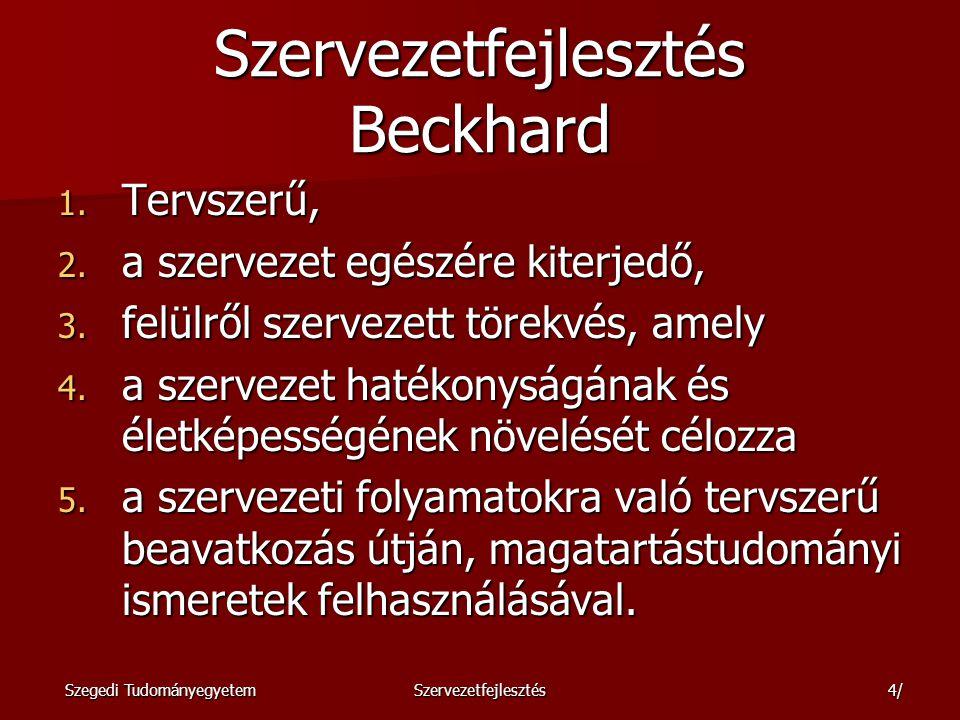 Szervezetfejlesztés Beckhard