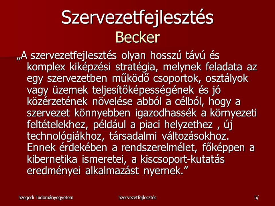 Szervezetfejlesztés Becker