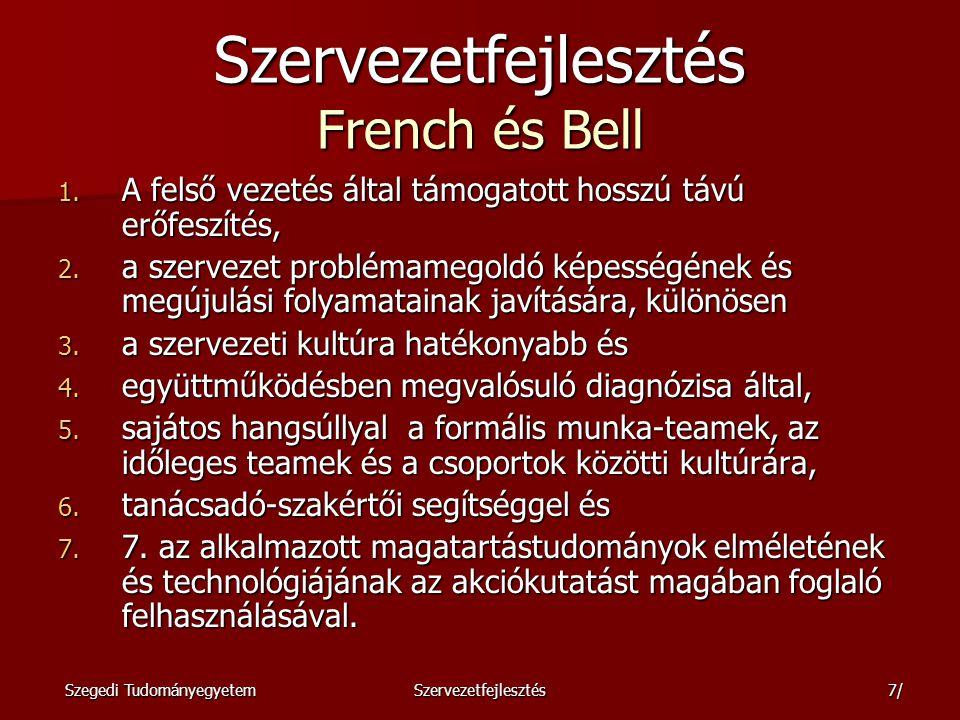Szervezetfejlesztés French és Bell