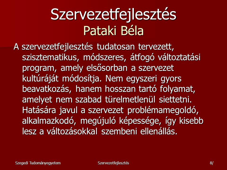 Szervezetfejlesztés Pataki Béla