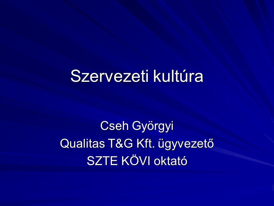 Cseh Györgyi Qualitas T&G Kft. ügyvezető SZTE KÖVI oktató