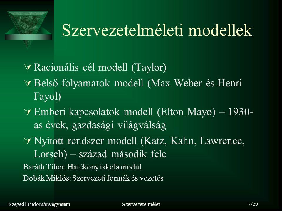 Szervezetelméleti modellek
