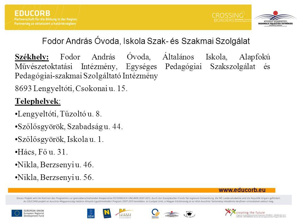 Fodor András Óvoda, Iskola Szak- és Szakmai Szolgálat