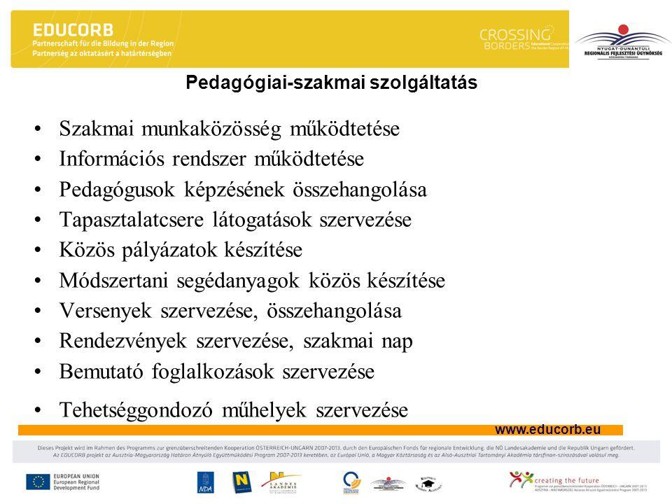 Pedagógiai-szakmai szolgáltatás