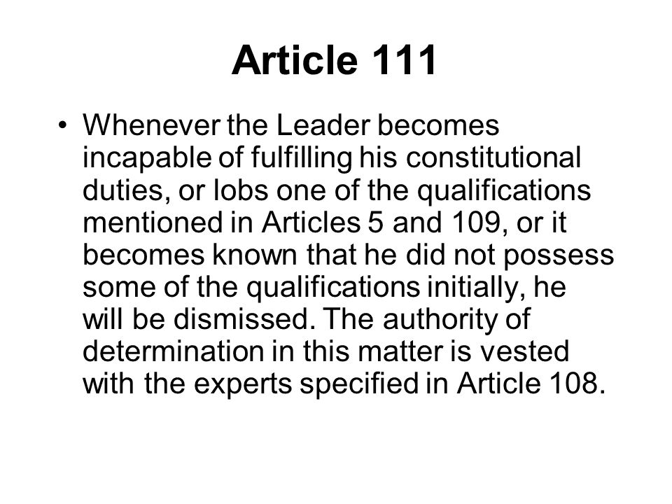 Article 111