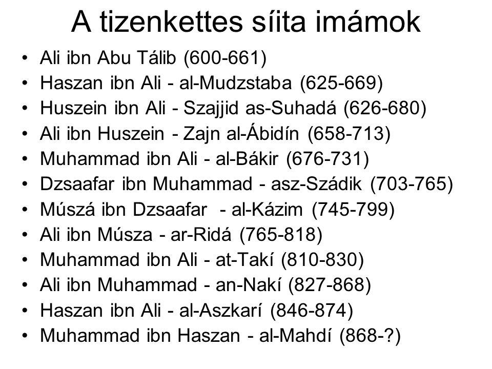 A tizenkettes síita imámok