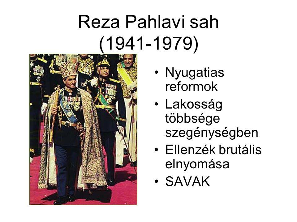 Reza Pahlavi sah (1941-1979) Nyugatias reformok