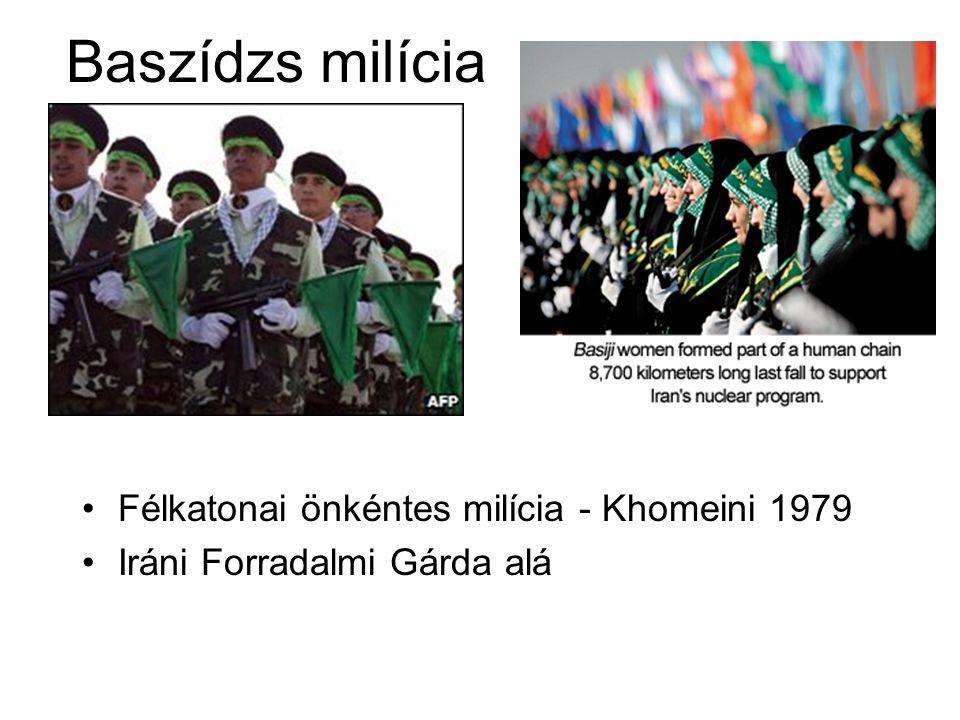 Baszídzs milícia Félkatonai önkéntes milícia - Khomeini 1979