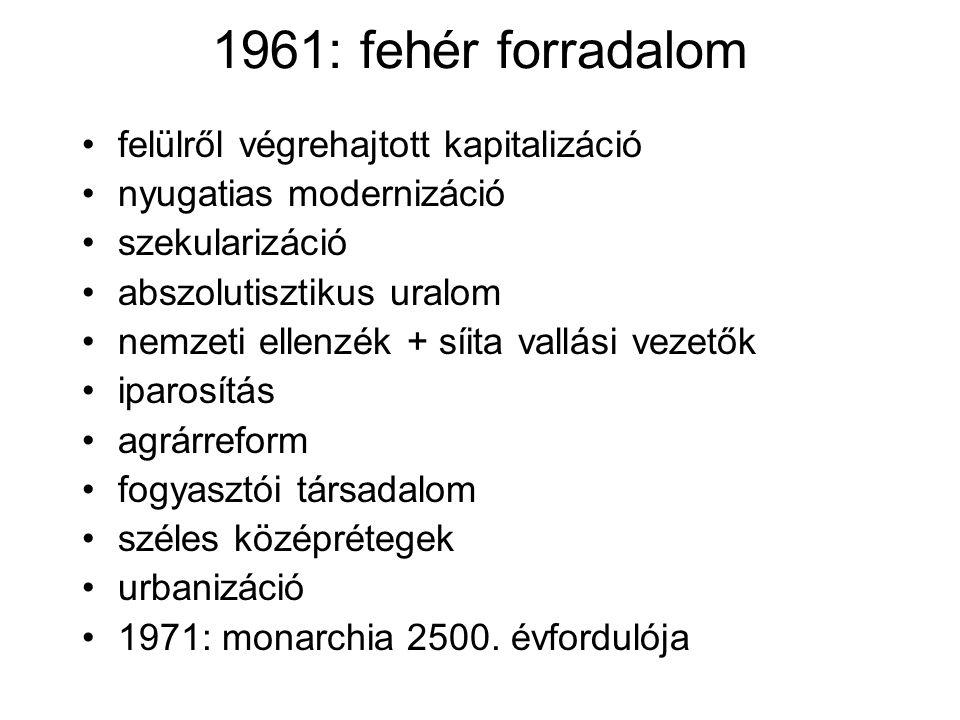1961: fehér forradalom felülről végrehajtott kapitalizáció