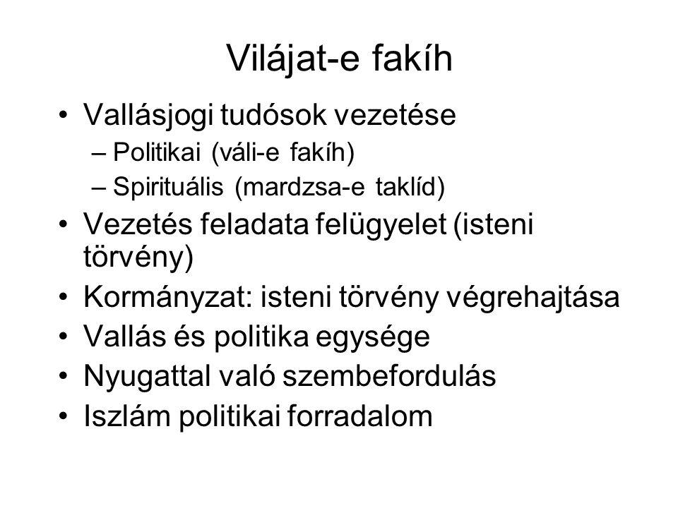 Vilájat-e fakíh Vallásjogi tudósok vezetése