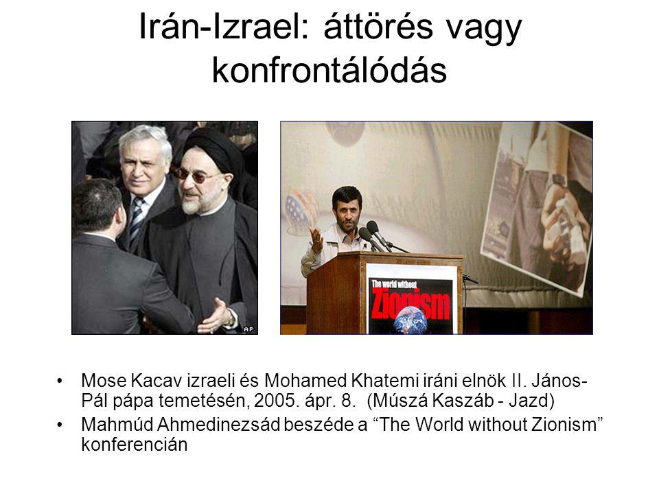 Irán-Izrael: áttörés vagy konfrontálódás