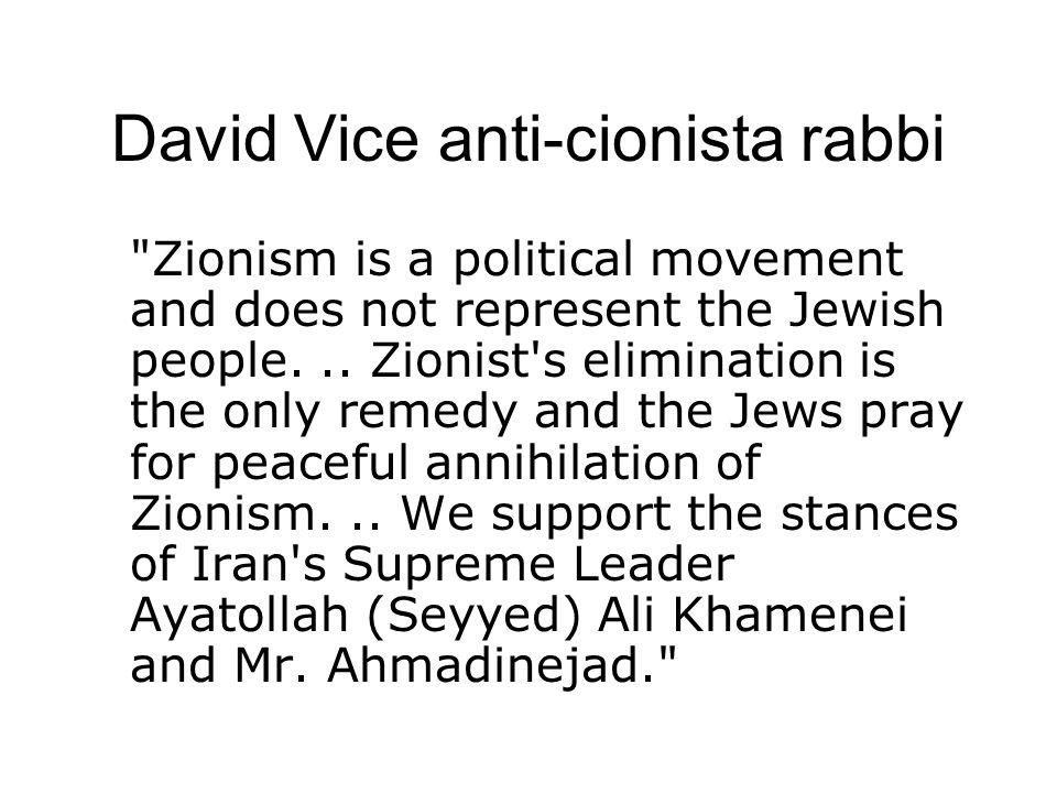 David Vice anti-cionista rabbi