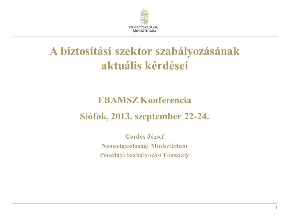 Nemzetgazdasági Minisztérium Pénzügyi Szabályozási Főosztály