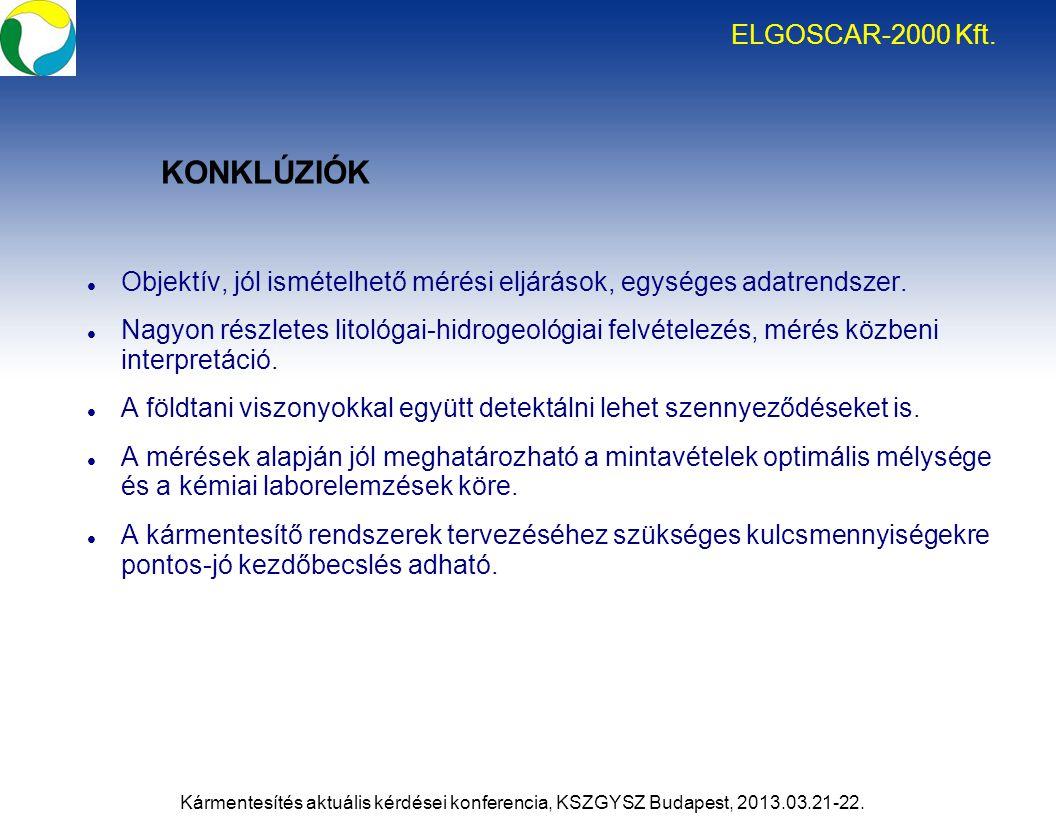 KONKLÚZIÓK ELGOSCAR-2000 Kft.