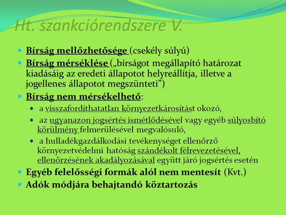 Ht. szankciórendszere V.