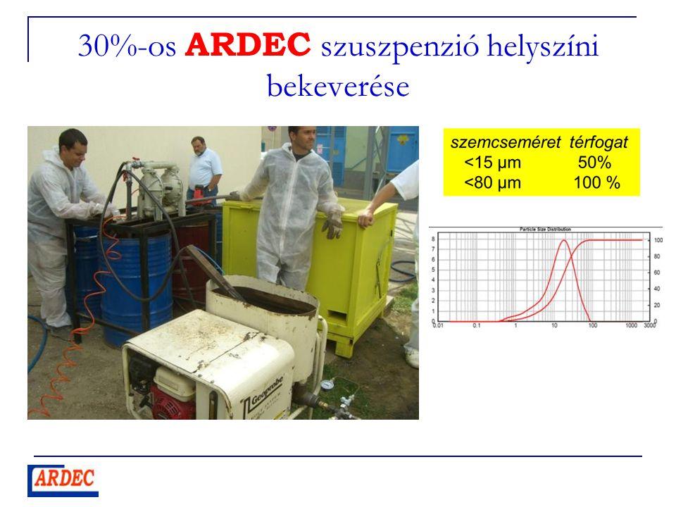 30%-os ARDEC szuszpenzió helyszíni bekeverése