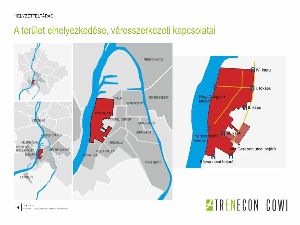 A terület elhelyezkedése, városszerkezeti kapcsolatai