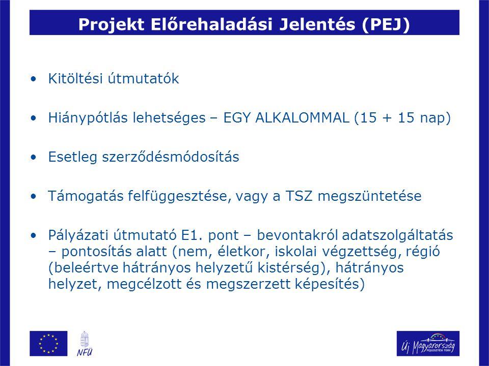 Projekt Előrehaladási Jelentés (PEJ)