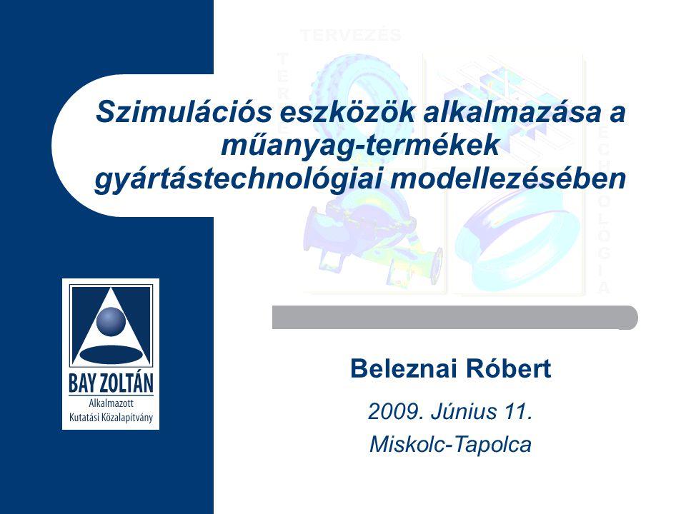 Szimulációs eszközök alkalmazása a műanyag-termékek gyártástechnológiai modellezésében