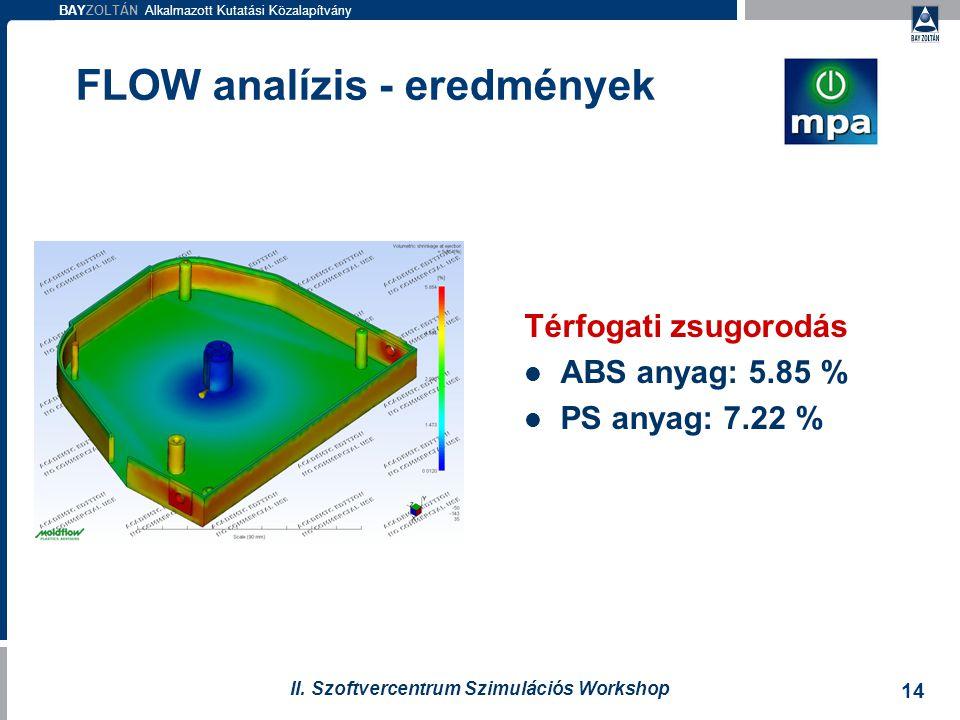 FLOW analízis - eredmények