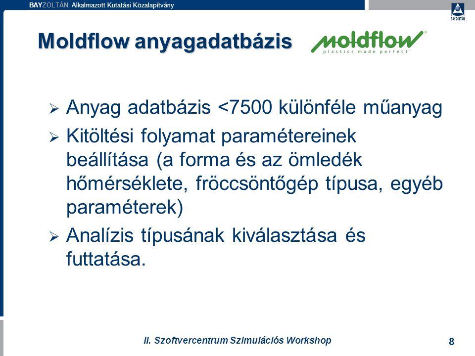 Moldflow anyagadatbázis