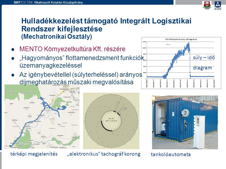 Hulladékkezelést támogató Integrált Logisztikai Rendszer kifejlesztése (Mechatronikai Osztály)