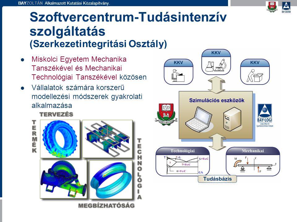 Szoftvercentrum-Tudásintenzív szolgáltatás (Szerkezetintegritási Osztály)