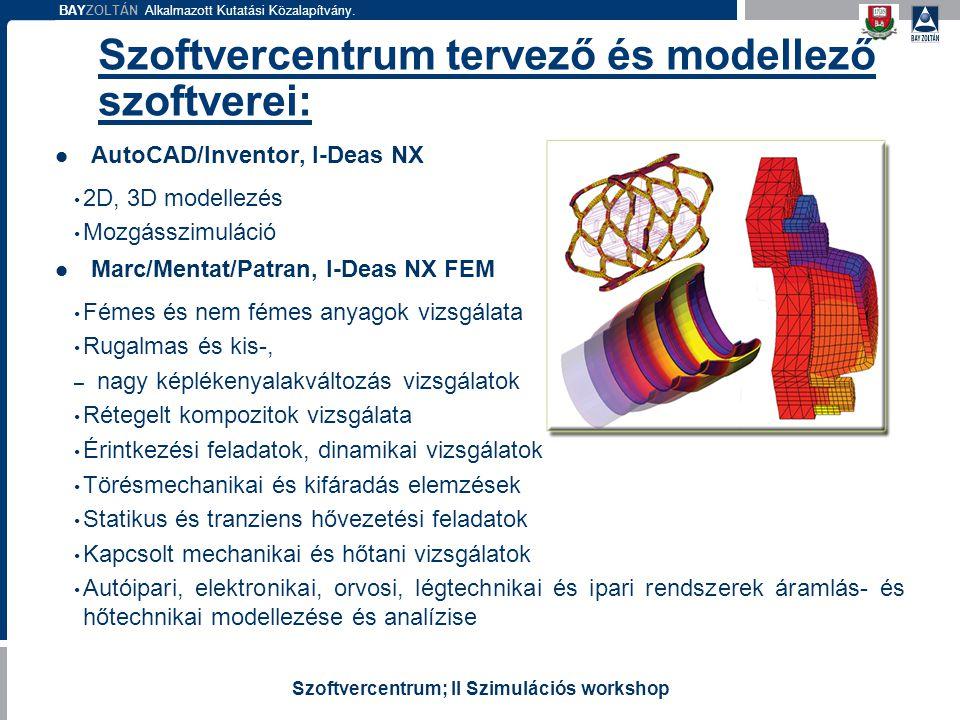 Szoftvercentrum tervező és modellező szoftverei: