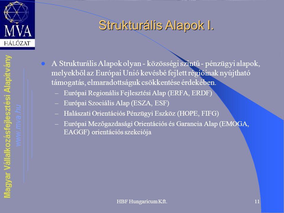 Strukturális Alapok I.
