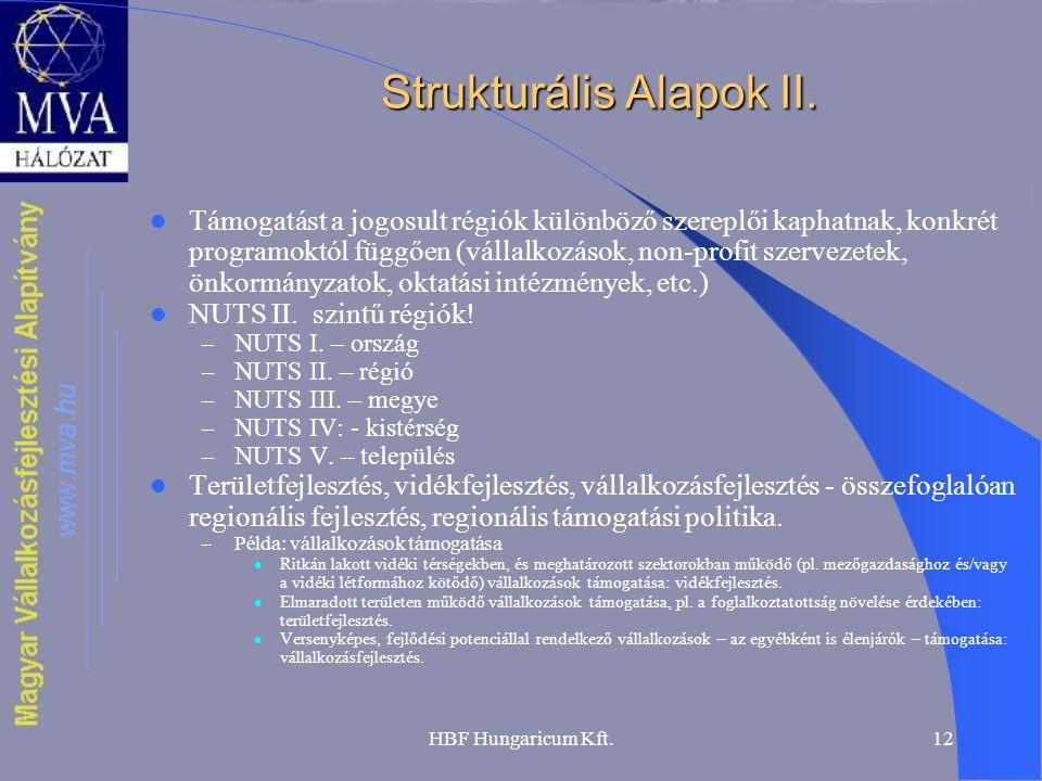 Strukturális Alapok II.