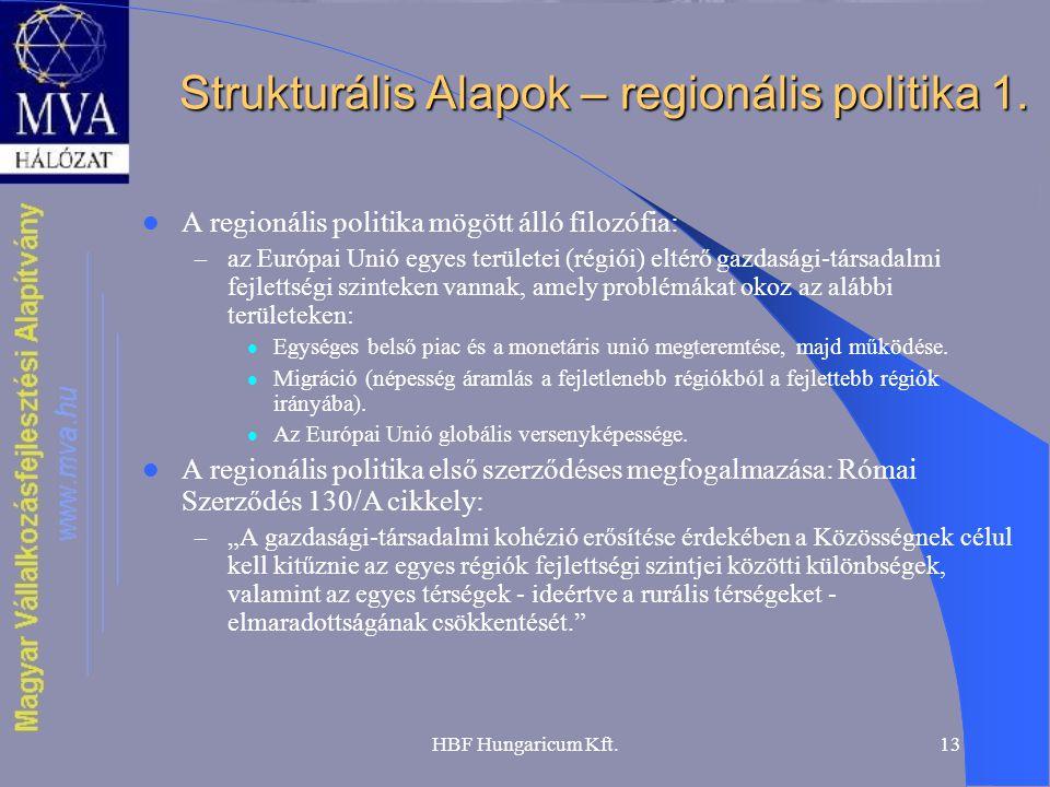 Strukturális Alapok – regionális politika 1.
